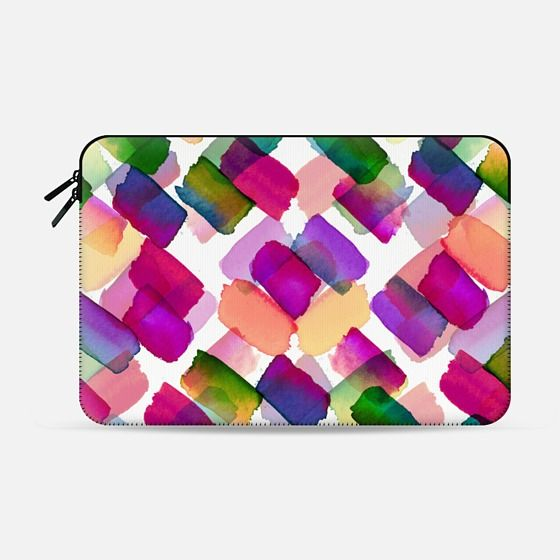 """Strokes of Genius 1, Rainbow"" by Artist Julia Di Sano, Ebi Emporium on @casetify Colorful Bold Multicolored Polka Dots Spots Brushstrokes Watercolor Painting Pattern Summer Office Tech Macbook Case Cover #colorful #whimsical #summer #macbookcase #macbookcover #macbookpro #laptopcase #laptopsleeve #macbooksleeve #proretina #designer #polkadots #rainbow #Casetify #EbiEmporium #whimsical #fuchsia #green #watercolor"