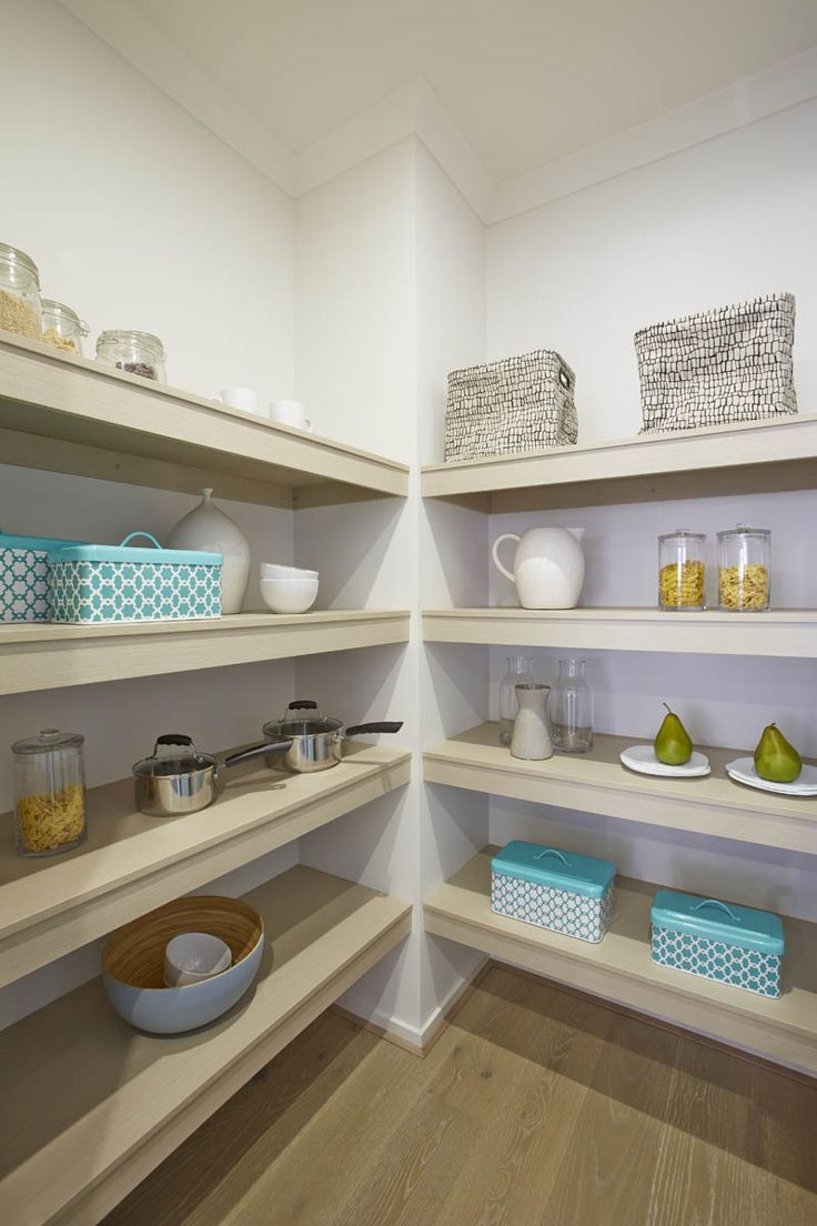 Walk-in-Pantry - feature shelves enhance a rather standard