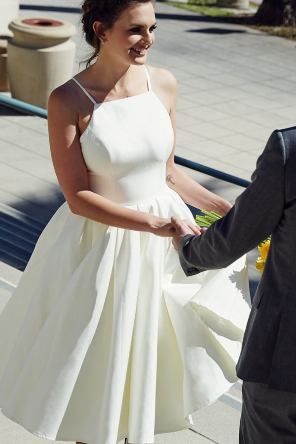 Real life couples sport unconventional wedding style that make them feel their big-day best!