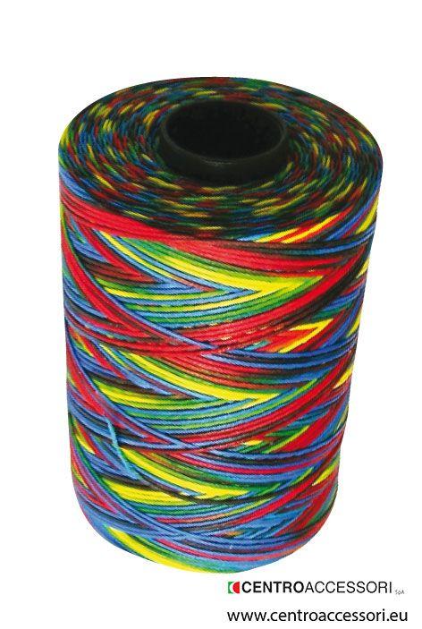 Filato mocassino multicolor. Multicolor braided yarn. #CentroAccessori