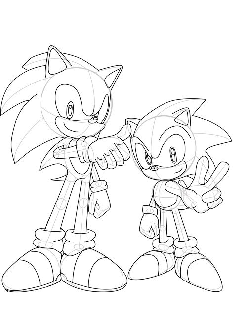 Sonic Generations Coloring Pages Cartoon Sonic