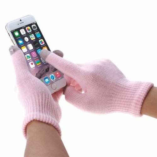 HAWEEL Womens Three Fingers Touch Screen Gloves for iPhone 6s & 6s Plus / iPhone 6 & 6 Plus / iPhone 5 & 5S / iPad / iPod touch(Pink)