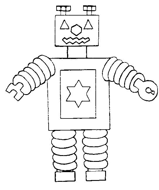 preschool robot coloring pages - photo#37