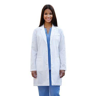 Lab Coats by Barco Uniforms Women's 4-Pocket Smart Pocket Lab Coat