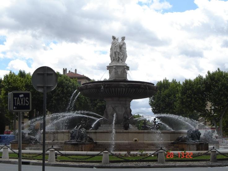 A fountain, Aix-en-Provence, France.