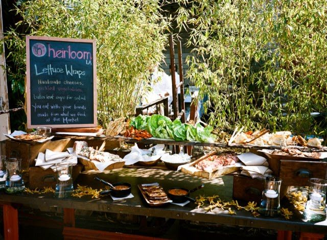 Lettuce Wrap Taco Station Wedding Food Station Ideas