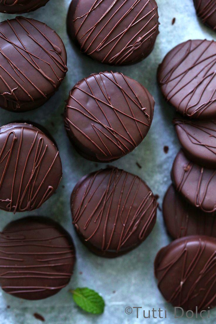 thin mint cookies   thin mints recipe   thin mints