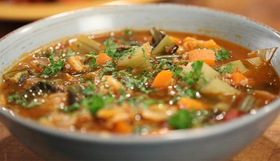 Minestrone with Kale and Mixed Grains