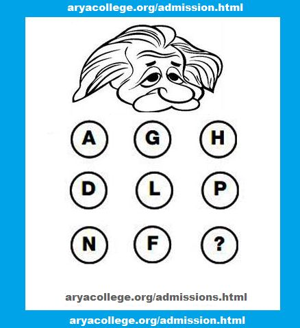 Which Letter replaces the question mark ?    #Aryaaiet #Education #Aryainstitute #jaipurengineers
