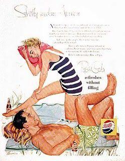 A finales de los años 50, Pepsi invirtió grandes recursos al tratar de mejorar su imagen. Emitió gran cantidad de publicidad televisiva e inicio su empleo de celebridades para vender su producto. Creció y se mostró como un rival serio para la corporación Coca-Cola, aunque estaba firmemente en segundo lugar.