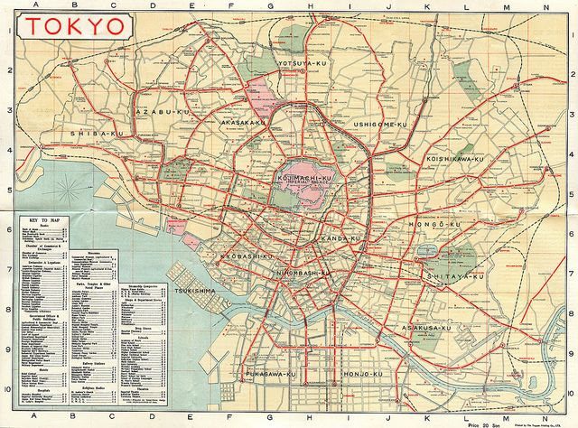 Tokyo Tourist Map 1918 | Flickr - Photo Sharing!