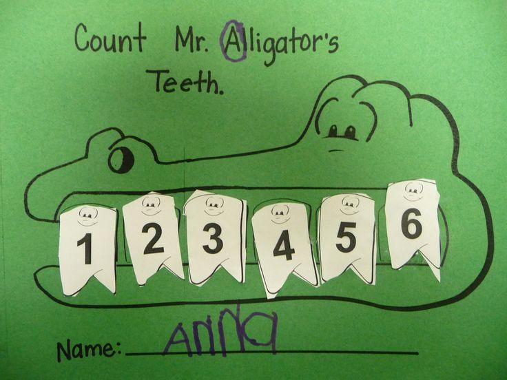 Count Mr. Alligator's Teeth- Busy Bee Preschool