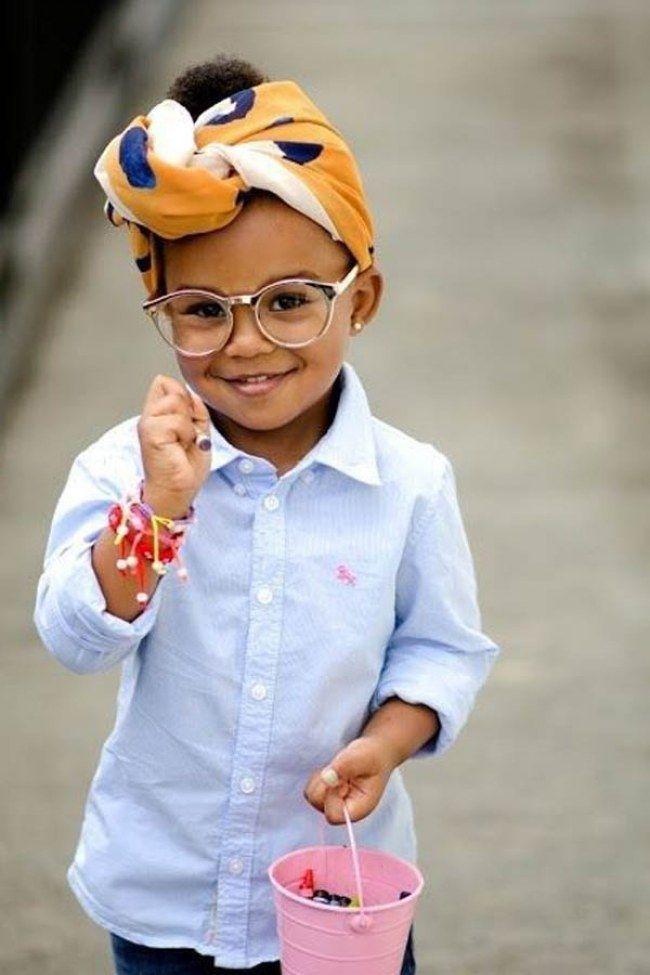 Lenços e turbante - Penteados afro lindos para menininhas cheias de estilo