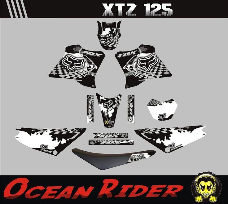 Kit Adesivos Completo Capa Xtz 125 Moto Trilha Ocean Rider