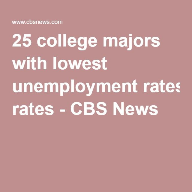 25 college majors with lowest unemployment rates - CBS News