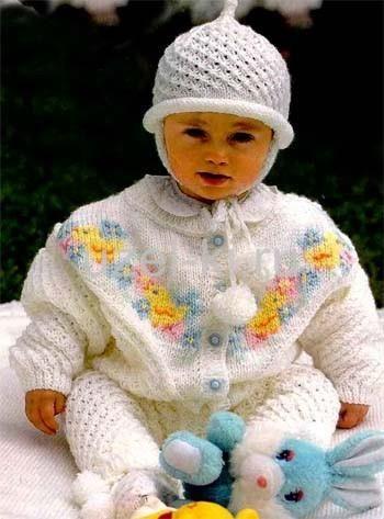 Вязание детских костюмов для грудничков
