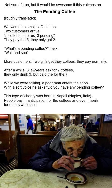 The Pending Coffee. That's pretty awesome