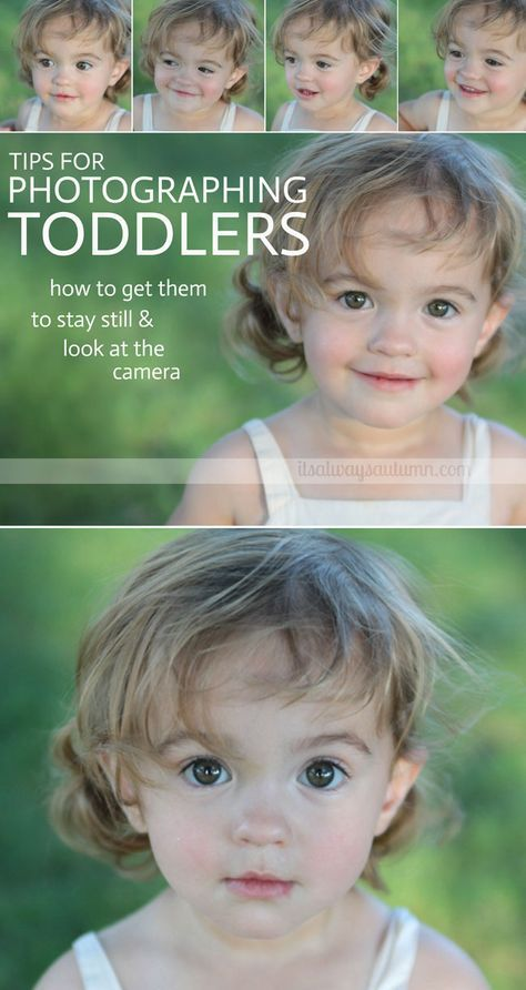 Does your toddler run away every time you try to take her photo? Use these great photography tips for getting toddlers to sit still and look at the camera!