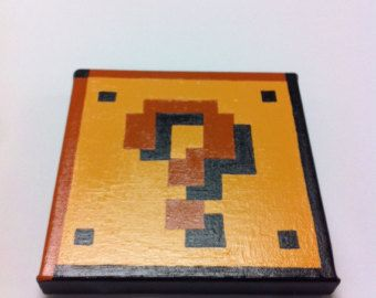 Pacman and Ghost Namco 8 Bit Pixel Art 6x12 by KaterineArts