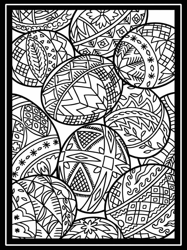 free sample coloring page from Artful Eggs from Around the World Stained Glass Coloring Book