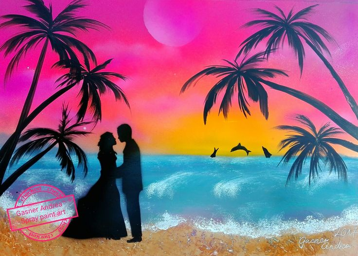 #love #sunset #spraypainting