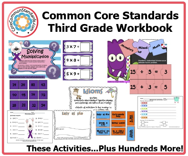 This Third Grade Common Core Workbook is the largest collection of resources for teaching the Common Core State Standards.