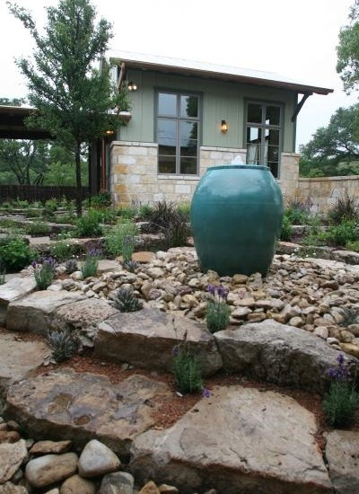 Nice stonework on the house and I like the zero-scape yard.  Website has beautiful pics of the home.