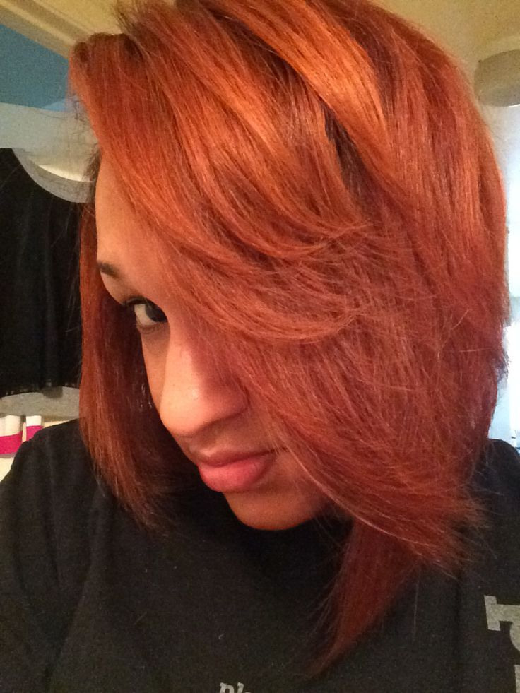 Loreal hicolor permanent hair color. Copper red