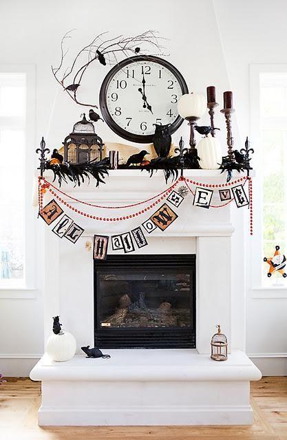Große Halloween - Kaminsimsverzierungideen 2