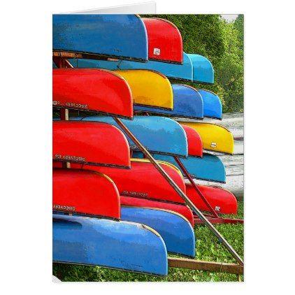 Canoe Cart Card - summer gifts season diy template ideas