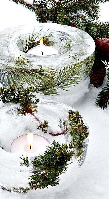 Beautiful Ice Bowl Lanterns to make