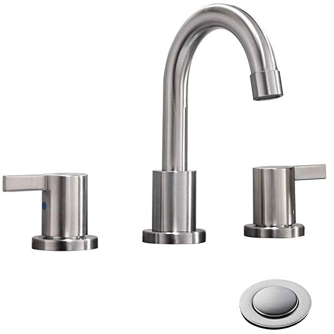 Phiestina Two Handle 3 Hole 8 inch Widespread Bathroom Faucet with