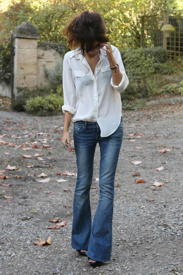 great jeans, white shirt.