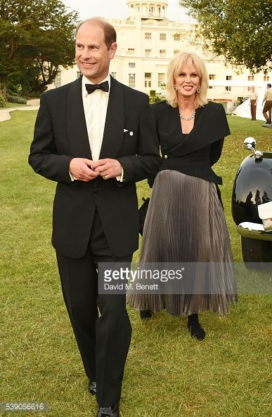 Prince Edward, Earl of Wessex, and Joanna Lumley attend the Duke of Edinburgh Award 60th Anniversary Diamonds are Forever Gala at Stoke Park on June 9, 2016 in London, England.