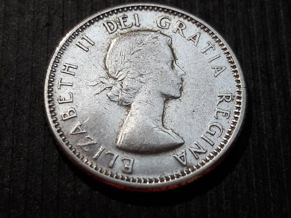 1956 canadian dime 10 cents Canada silver coin silver dime