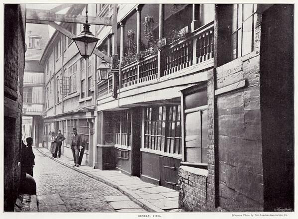 Old George Inn, Southwark, London in 1896