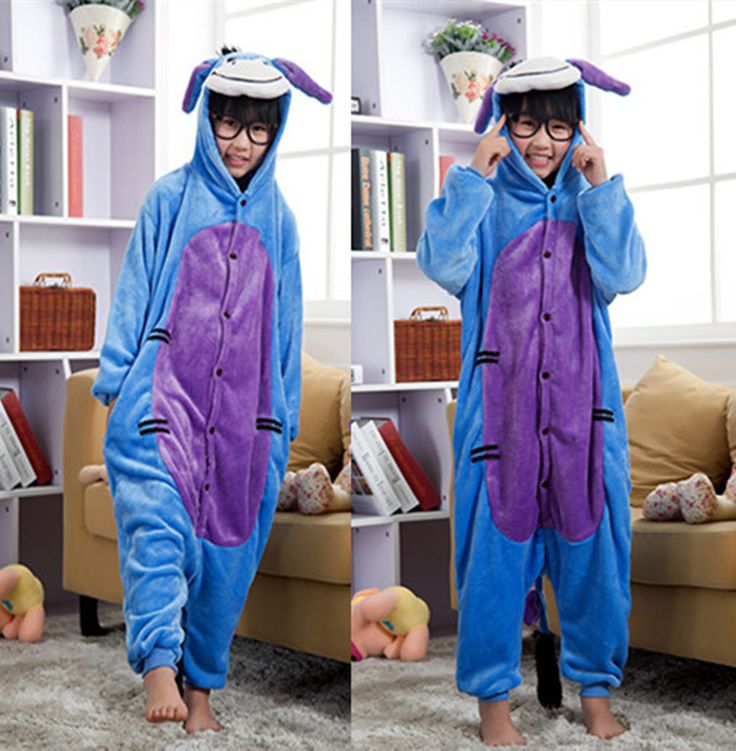 Eeyore Donkey Cartoon Costumes Cosplay Jumpsuit Costume For Children Kids Onesie Pajamas Clothing For Halloween Carnival