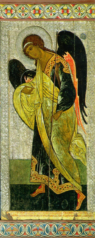 Gabriel the Archangel (of Deesis) Century: XV Storage location: The main iconostasis of St. Sophia Cathedral in Novgorod Size: 236 x 116 cm