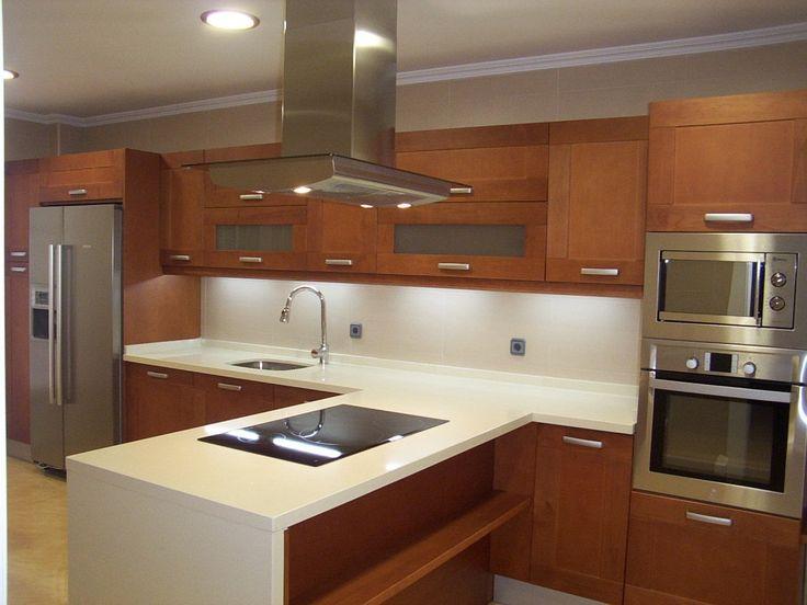 M s de 25 ideas fant sticas sobre cocinas de madera de for Ideas de gabinetes de cocina