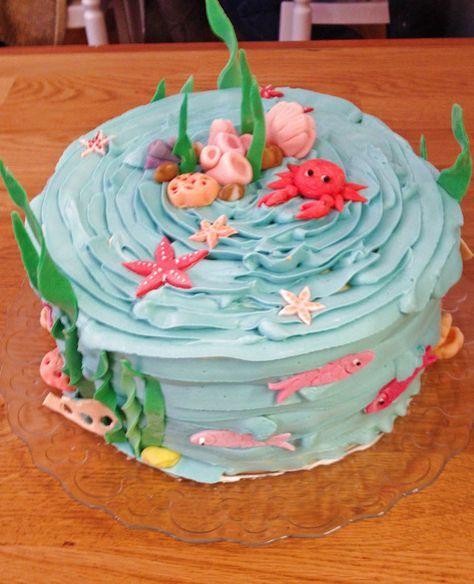 Unter Dem Meer Torte Fur Einen Arielle Geburtstag Meerjungfrauen Geburtstag Torten Kindergeburtstag Madchen Kindergeburtstage