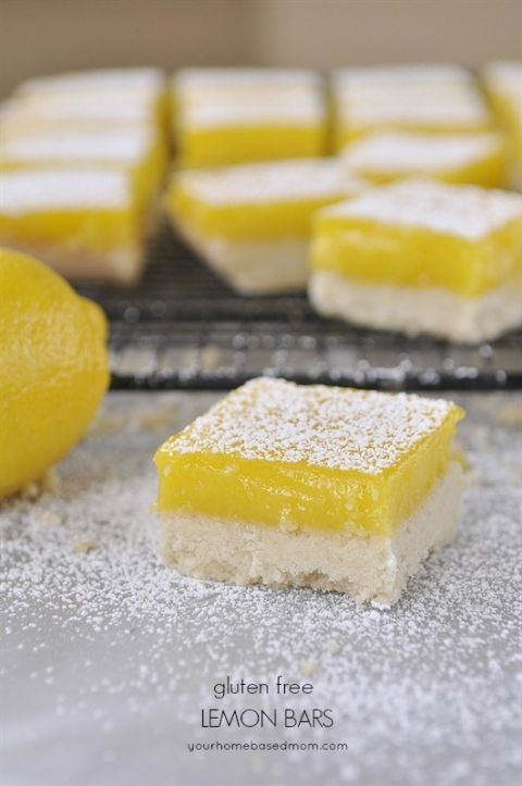 Gluten Free Lemon Bars - no one will know these are gluten free.  They are amazing!