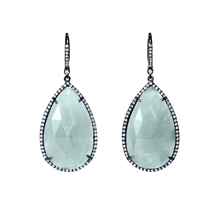 Greenwich Jewelers   Greenwich Collection Aquamarine and Diamond Earrings