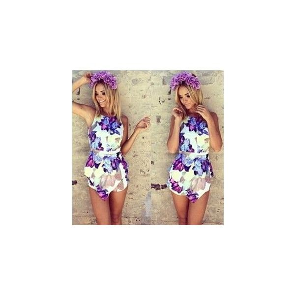 New hot Fashion flower print playsuit women summer overalls floral... ($23) ❤ liked on Polyvore featuring jumpsuits, rompers, jumpsuit, outfit, playsuit, playsuit jumpsuit, romper jumpsuit, bib overalls, summer jumpsuits and summer romper