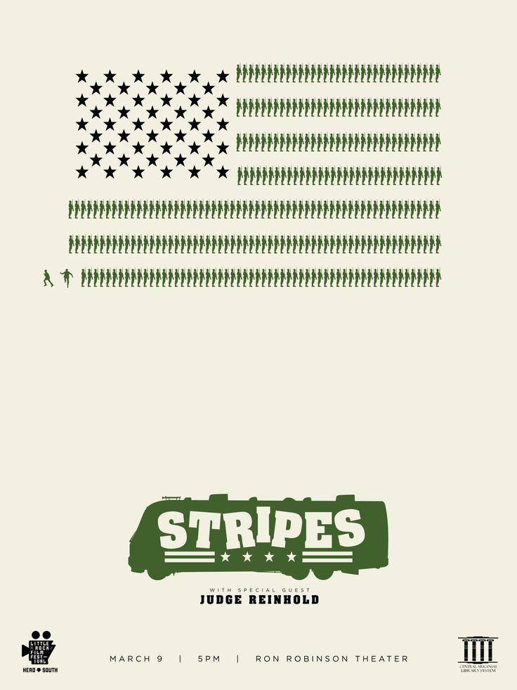 Stripes (1981) ~ Minimal Movie Poster by Matt Owen #amusementphile