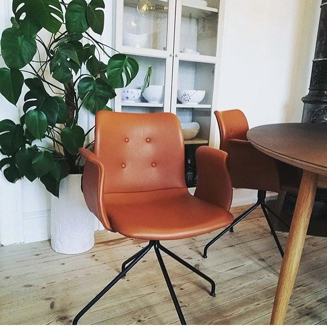 Primum Chair in soft cognac leather #chair #diningchairs #diningroom