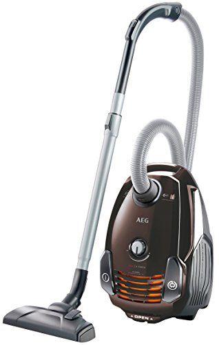 AEG VX6-1-FFP Staubsauger mit Beutel EEK A (700 Watt, inkl. Hartbodend�se, 9 m Aktionsradius, Softr�der, 3,5 Liter Staubbeutelvolumen, Hygiene Filter E12) braun