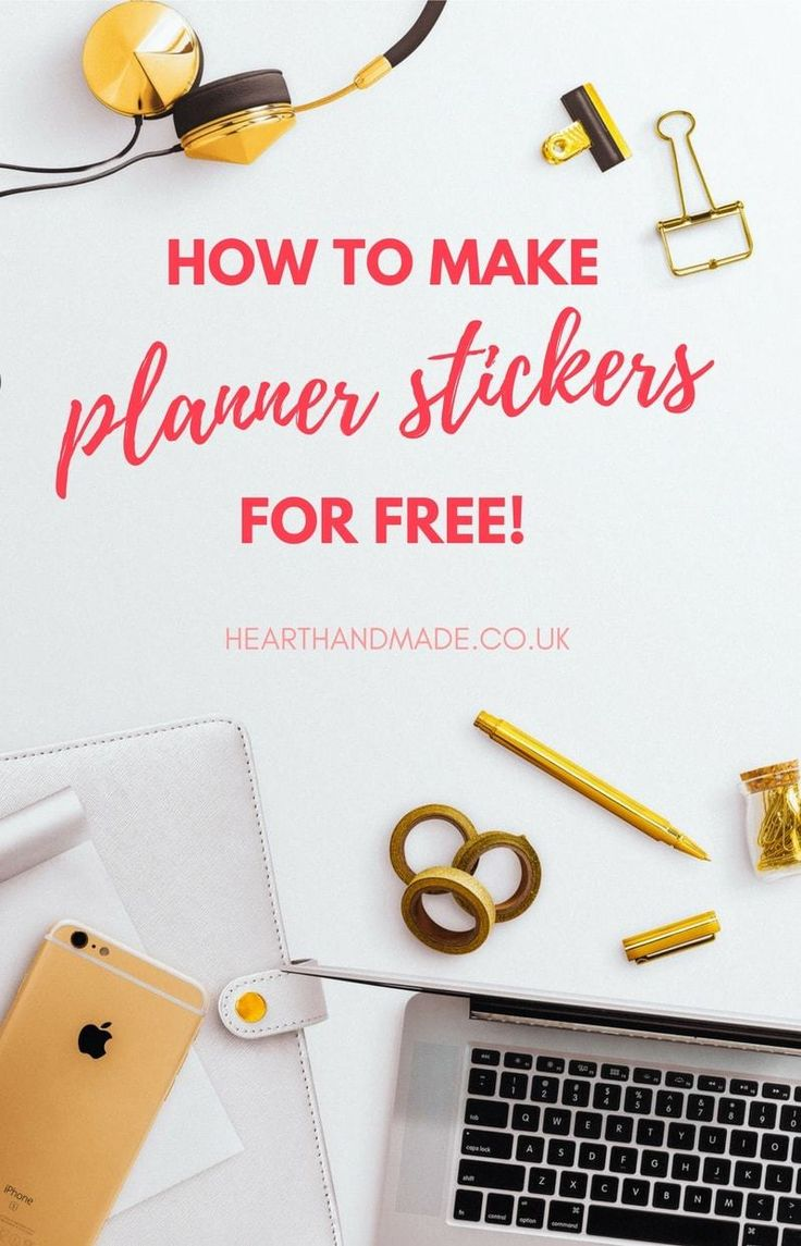Did You Know You Can Make Your Own Planner Stickers? Not Only That, You