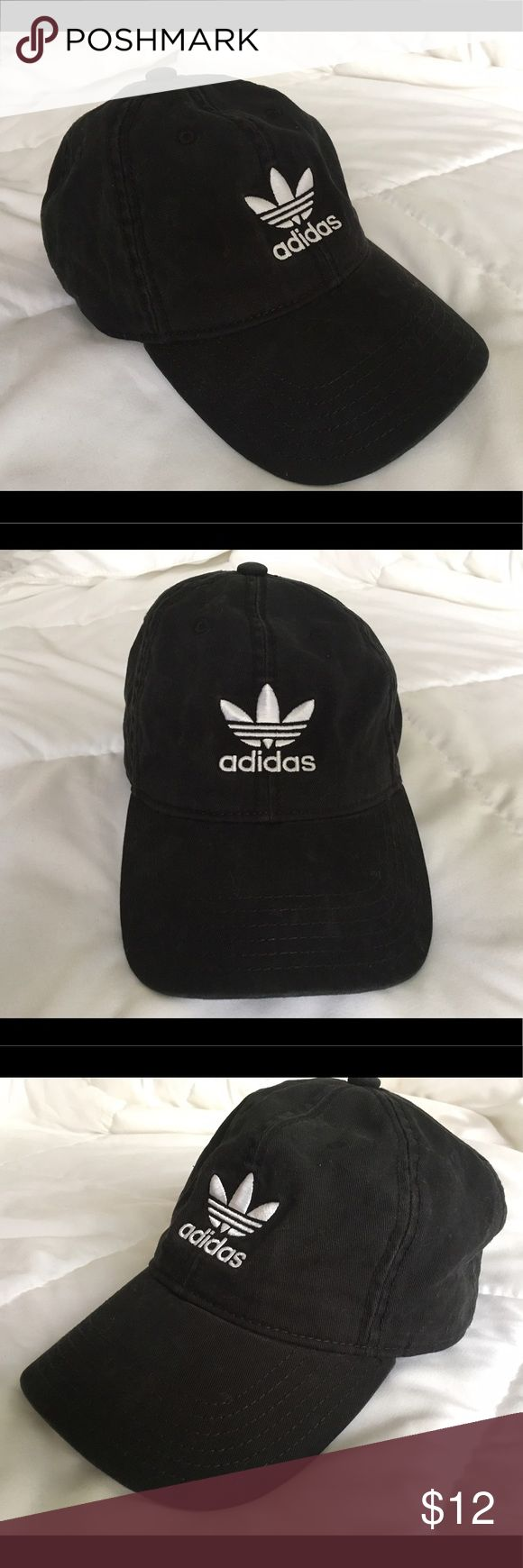 Adidas Baseball Cap Worn once. In great condition. Adjustable back strap. Color is a faded black with white. Super cute for summer! ✨bundle and save✨ adidas Accessories Hats