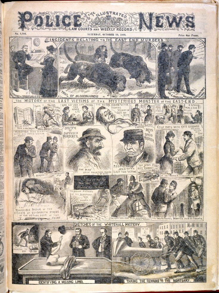 'Incidents relating to the East End murders' from the Illustrated Police News - The British Library