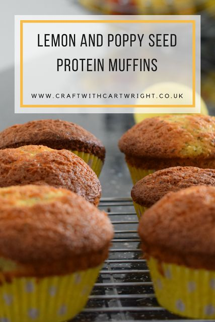 Craft with Cartwright: Lemon and poppy seed protein muffins